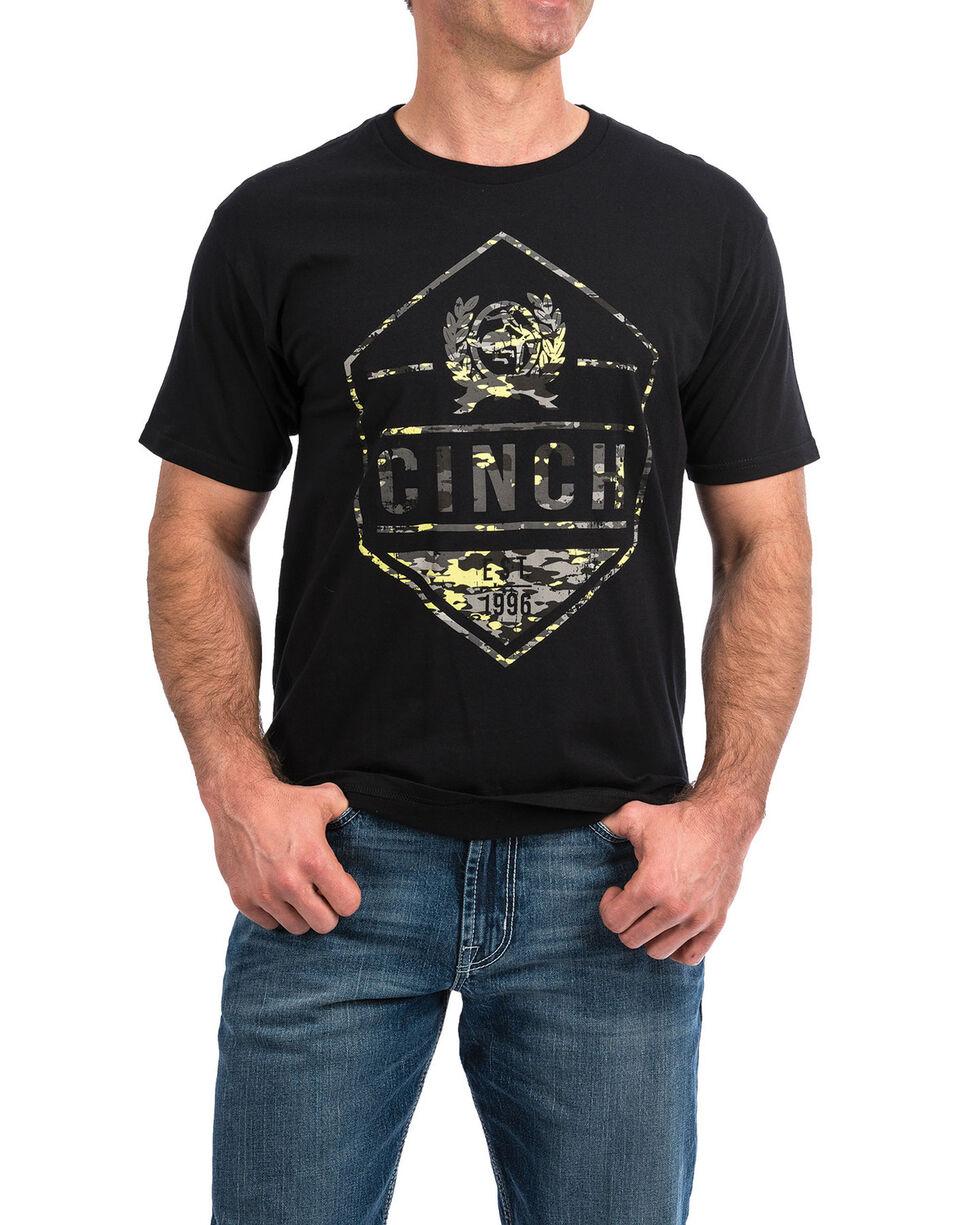 Cinch Men's Logo Camo Graphic T-Shirt , Black, hi-res