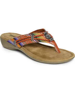 Minnetonka Women's Silverthorne Thong Sandals , Multi, hi-res
