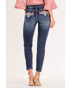 Miss Me Women's Plaid About It Skinny Jeans , Blue, hi-res