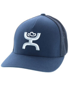 HOOey Men's Navy Coach Flex Fit Mesh Cap , Navy, hi-res