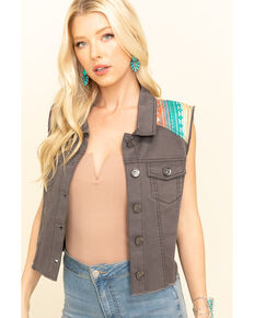 Ariat Women's June Trucker Vest , Grey, hi-res
