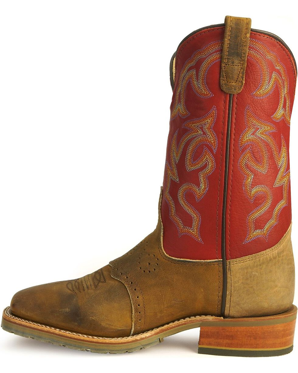 Double-H Men's Western Work Boots, Golden Tan, hi-res