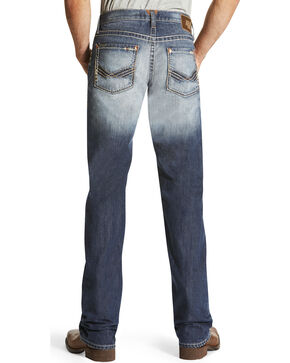 Ariat Men's M5 Davis Atlantic Boot Cut Jeans, Indigo, hi-res