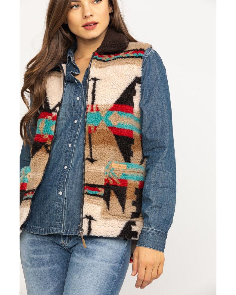 Powder River Outfitters Women's Jacquard Berber Fleece Vest, Multi, hi-res
