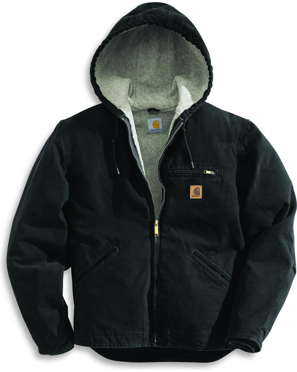 Carhartt Men's Sandstone Sierra Sherpa Lined Jacket, Black, hi-res