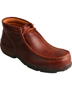 Twisted X Men's Composite Toe Driving Moc Work Shoes, Cognac, hi-res