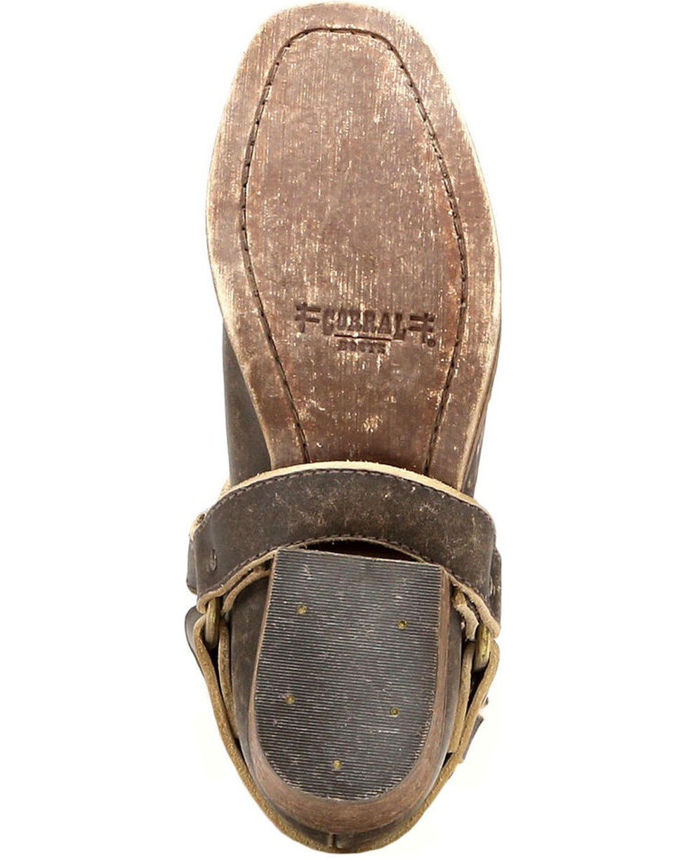 Circle G Women's Harness and Studs Booties - Narrow Square Toe, Cognac, hi-res