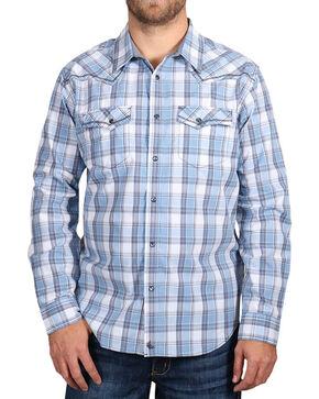 Cody James® Men's Light Plaid Long Sleeve Shirt, Light/pastel Blue, hi-res