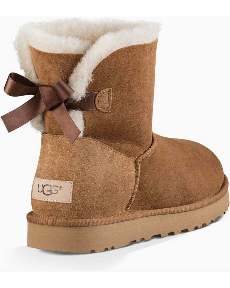 UGG Women's Ribbon Back Shortie Boots, Chestnut, hi-res