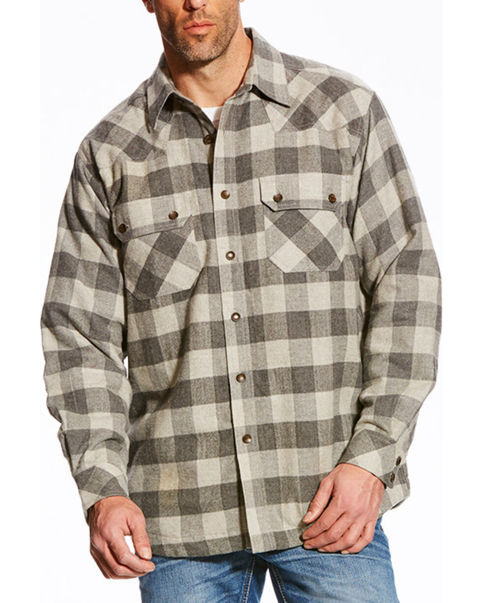 Ariat Men's Grey Wes Retro Shirt Jacket , Grey, hi-res