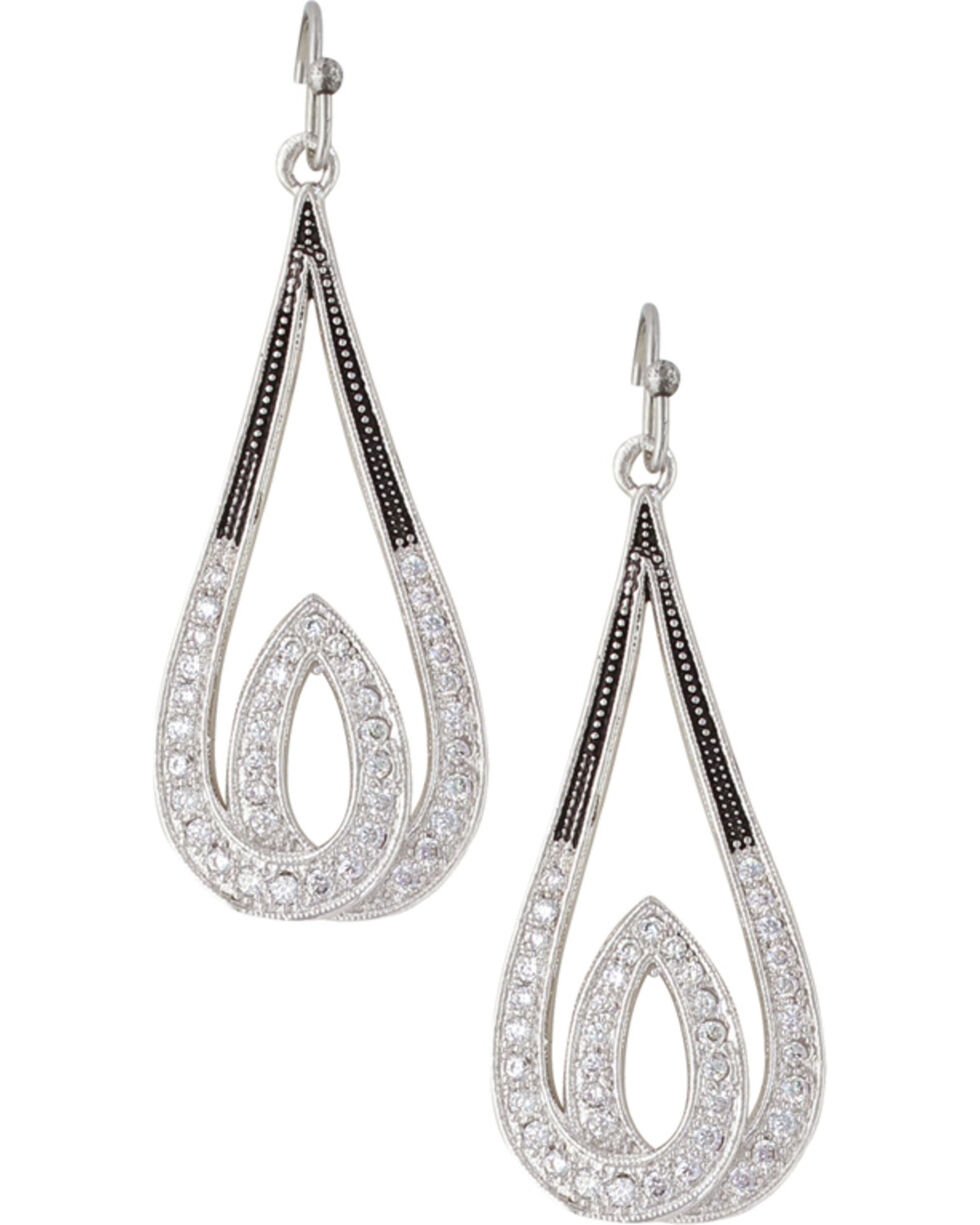 Montana Silversmiths Frost's Candlelight Earrings, Silver, hi-res