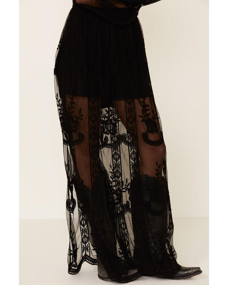 Wishlist Women's Lace Maxi Romper Dress, Black, hi-res