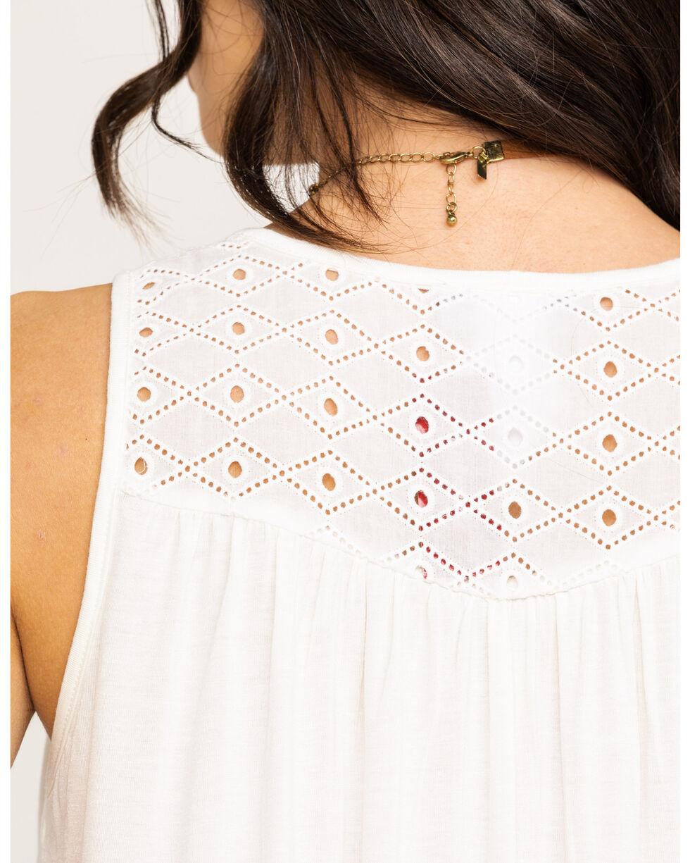 Red Label by Panhandle Women's White Knit Eyelet Tank, White, hi-res