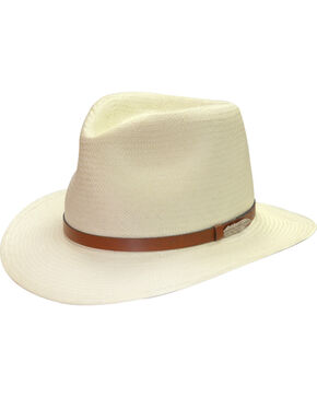 Black Creek Men's Toyo Straw Hat, Ivory, hi-res