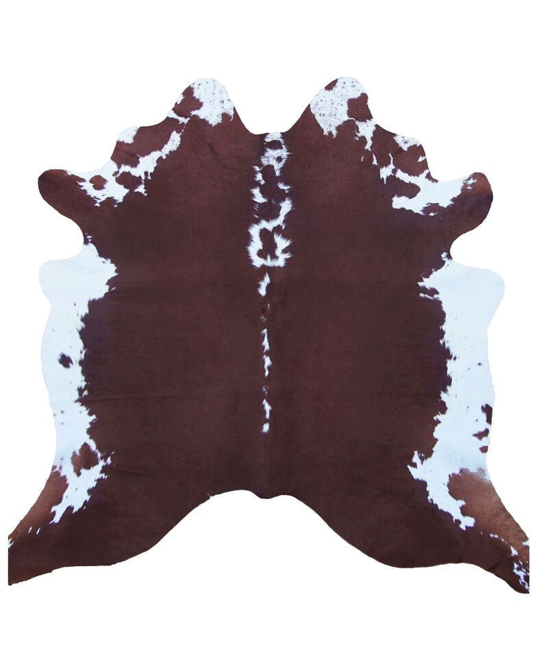 Carroll Co. Brown & White Genuine Cowhide Rug, Brown, hi-res