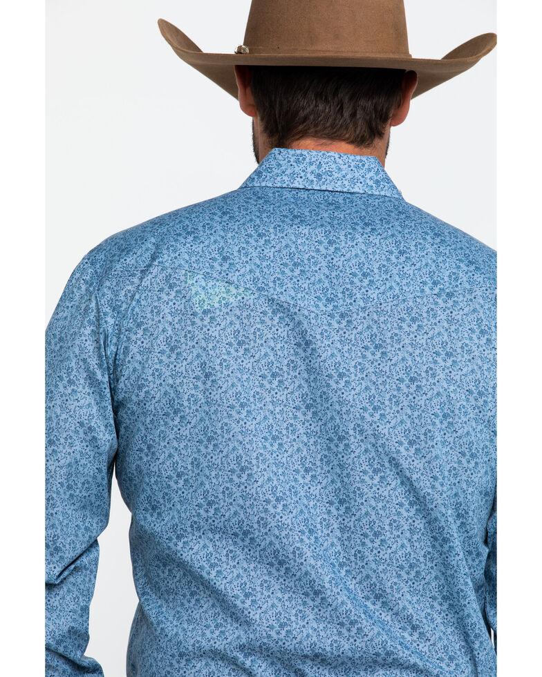 Roper Men's Classic Blue Floral Print Long Sleeve Western Shirt , Blue, hi-res