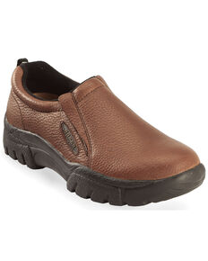 Roper Men's Performance Sport Slip On Shoes, Brown, hi-res