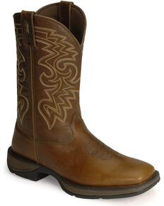 Durango Men's Rebel Square Toe Western Boots, Chocolate, hi-res