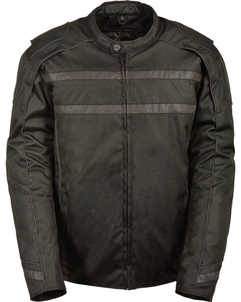 Milwaukee Leather Black Vented Reflective Jacket - Big 3X , Black, hi-res