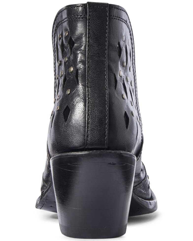 Ariat Women's Black Dixon Studded Fashion Booties - Snip Toe, Black, hi-res