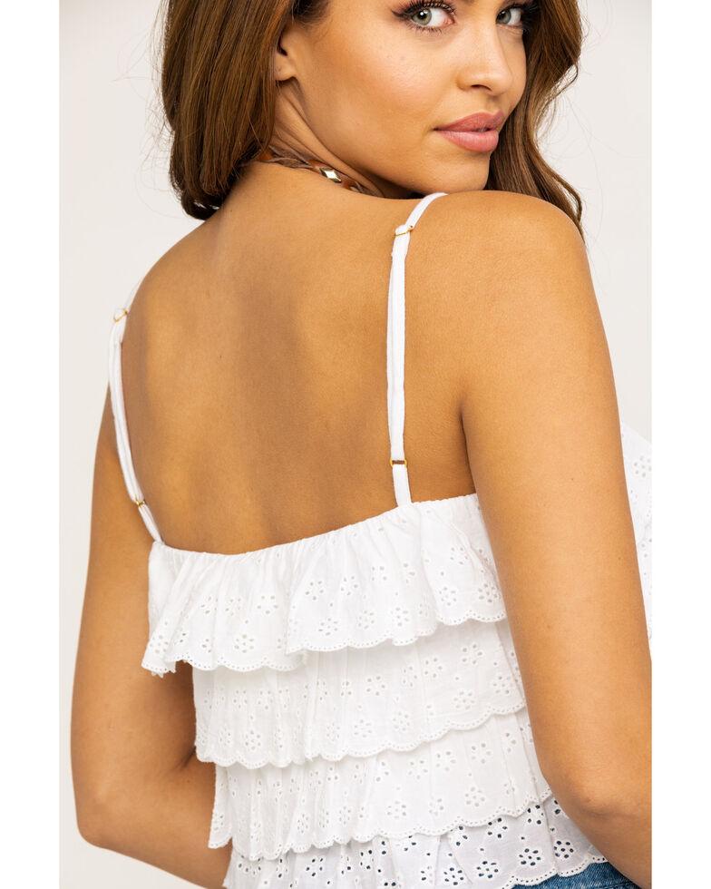 Show Me Your Mumu Women's Nina White Eyelet Crop Top, White, hi-res