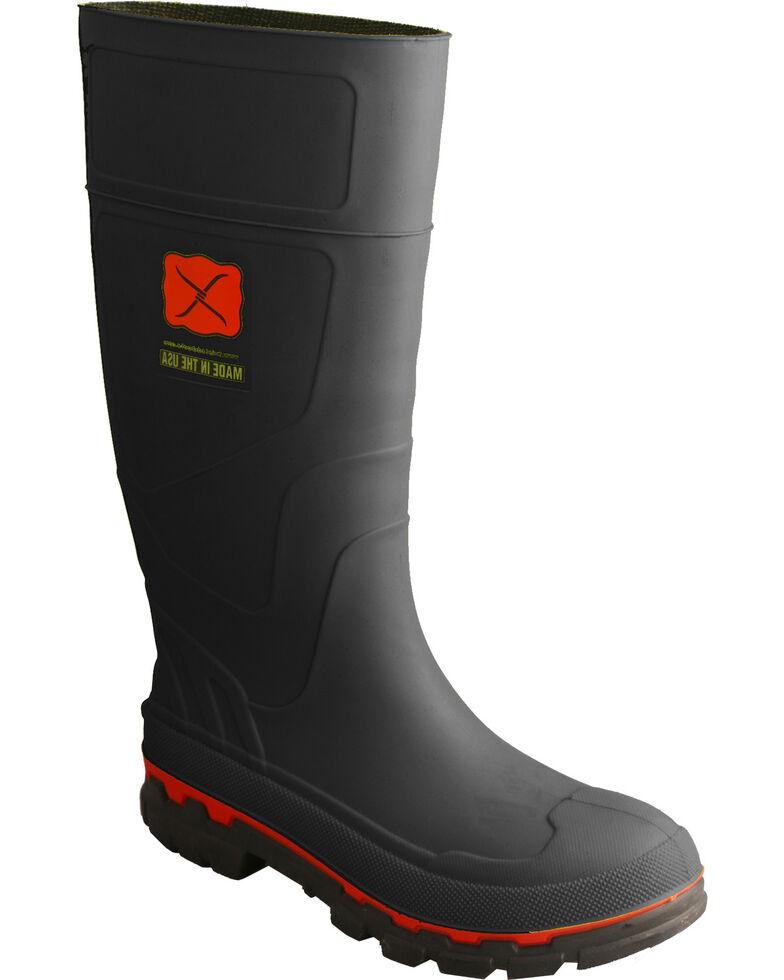 Twisted X Men's Steel Toe Mud Work Boots, Black, hi-res