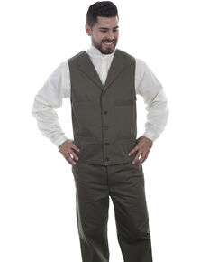 Scully Men's Herringbone Vest, Grey, hi-res