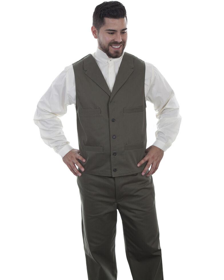 Scully Men's Herringbone Vest, Grey, hi-res