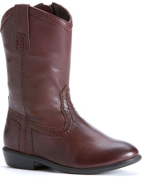 Frye Girls' Carson Pull-on Toddler Boots, Dark Brown, hi-res