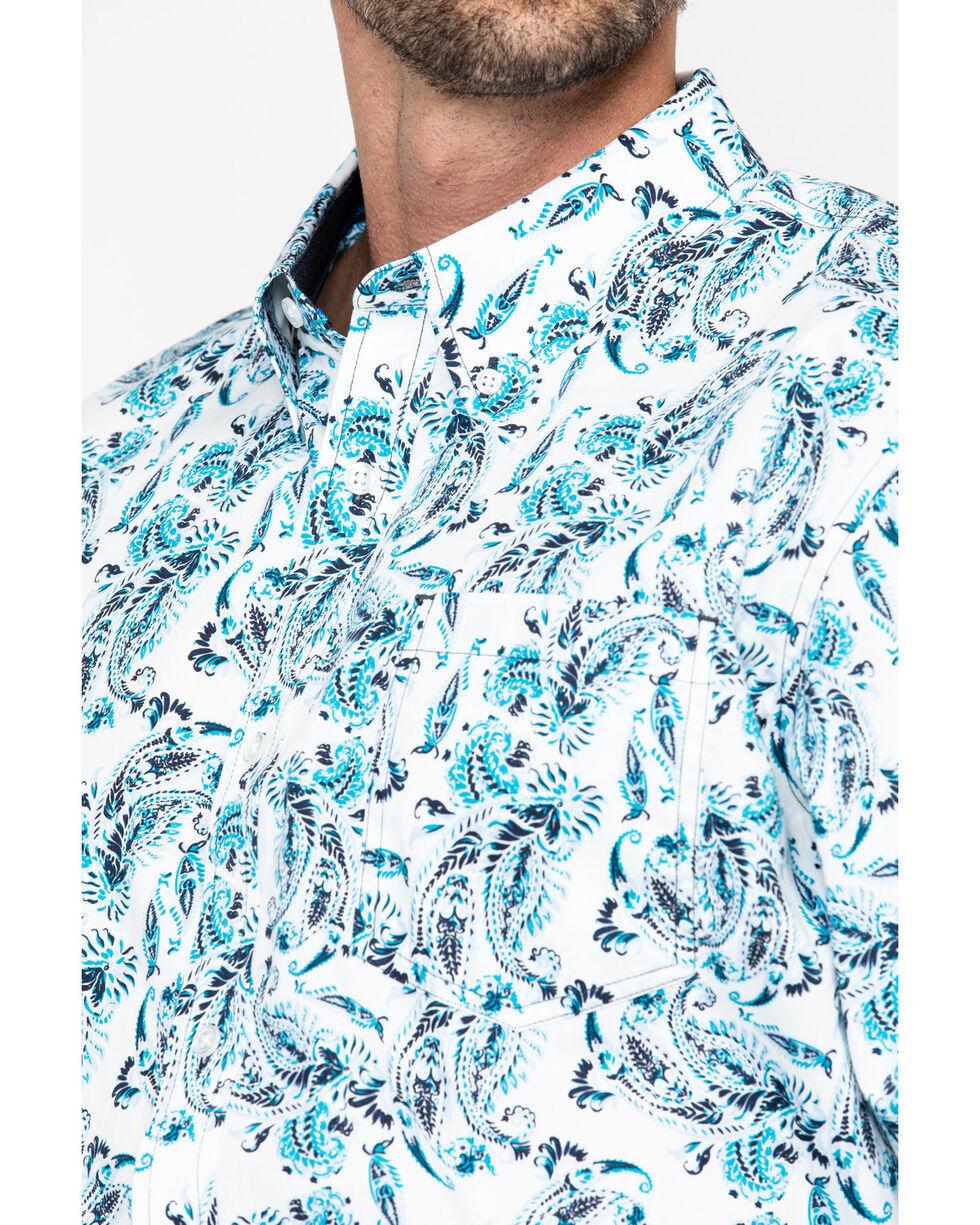 Cody James Men's Peacock Paisley Long Sleeve Western Shirt - Big, White, hi-res