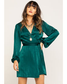 Show Me Your Mumu Women's NOLA Dark Emerald Mini Dress, Dark Green, hi-res