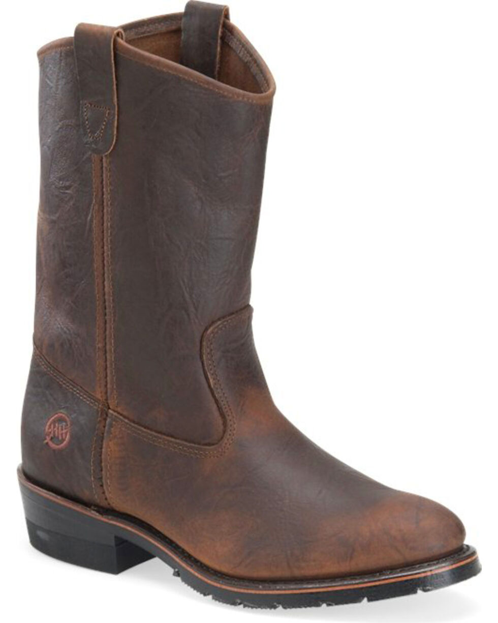 Double-H Men's Sahara Ranch Wellington Boots, Brown, hi-res