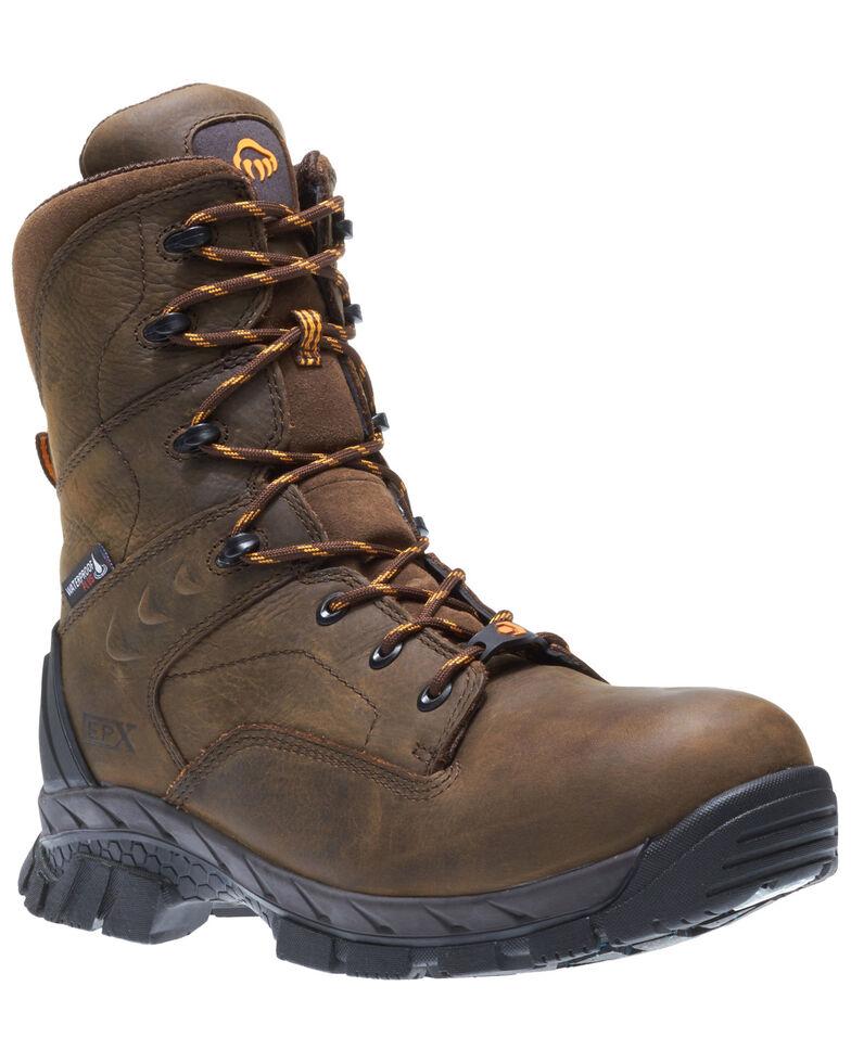Wolverine Men's Glacier Ice Waterproof Work Boots - Composite Toe, Brown, hi-res
