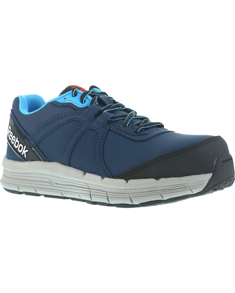 Reebok Women's Guide Athletic Oxford Work Shoes - Steel Toe , Navy, hi-res