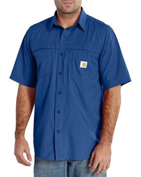 Carhartt Force Mandan Men's Short Sleeve Shirt, Blue, hi-res