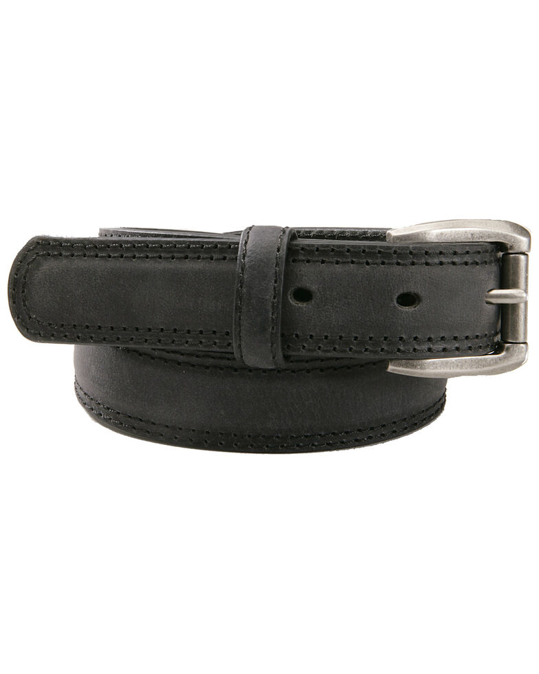 AndWest Boys' Black Roller Buckle Belt, Black, hi-res