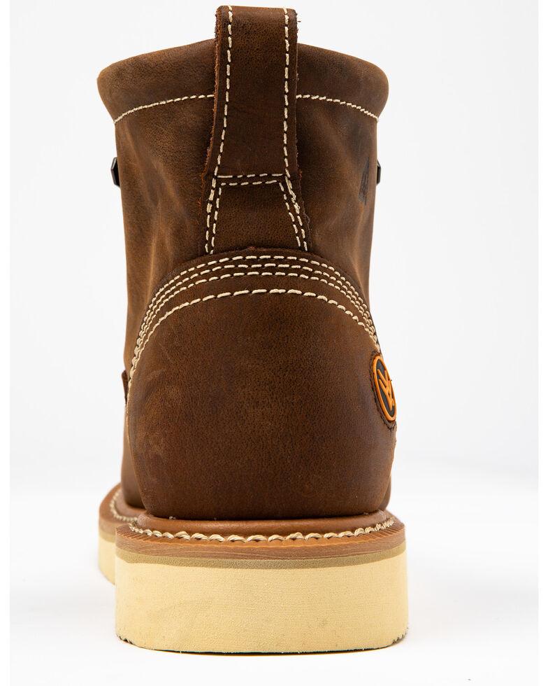 "Hawx Men's 6"" Lacer Work Boots - Soft Toe, Brown, hi-res"