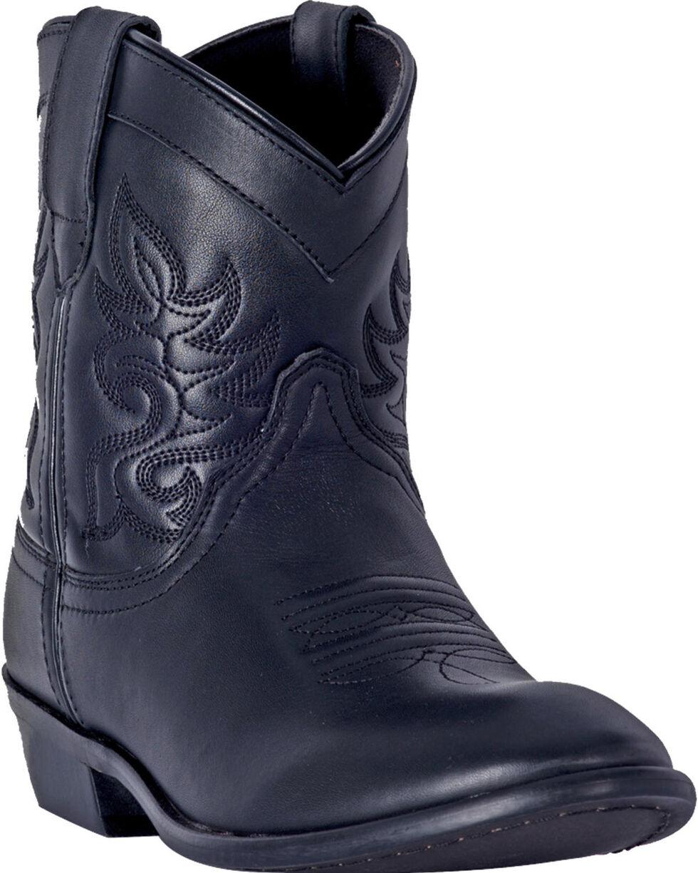 Dingo Women's Willie Black Leather Short Boots - Round Toe , Black, hi-res