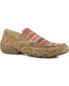 Roper Women's Tan Daisy Driving Mocs - Moc Toe, Tan, hi-res