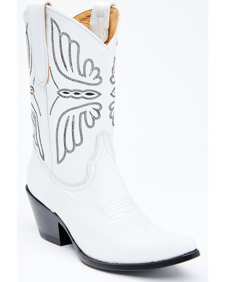 Idyllwind Women's Ace White Western Boots - Round Toe, White, hi-res