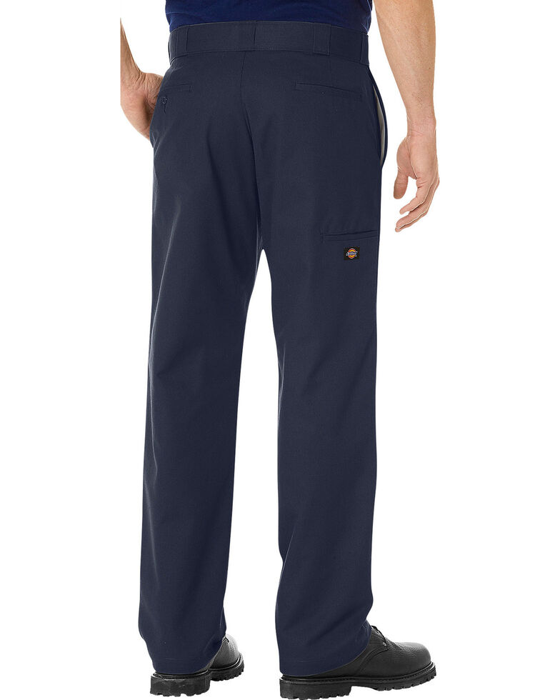 Dickies Men's FLEX Regular Fit Straight Leg Double Knee Work Pants, Navy, hi-res