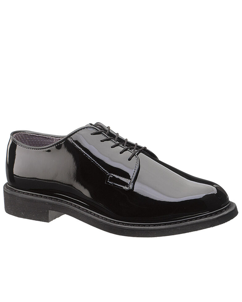 Bates Men's High Gloss Oxford Shoes, Black, hi-res