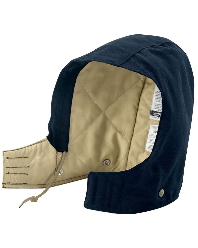 Carhartt Men's Flame Resistant Midweight Canvas Hood, Navy, hi-res