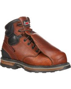 Rocky Elements Steel Waterproof Met Guard Work Boots - Composite Toe, Brown, hi-res