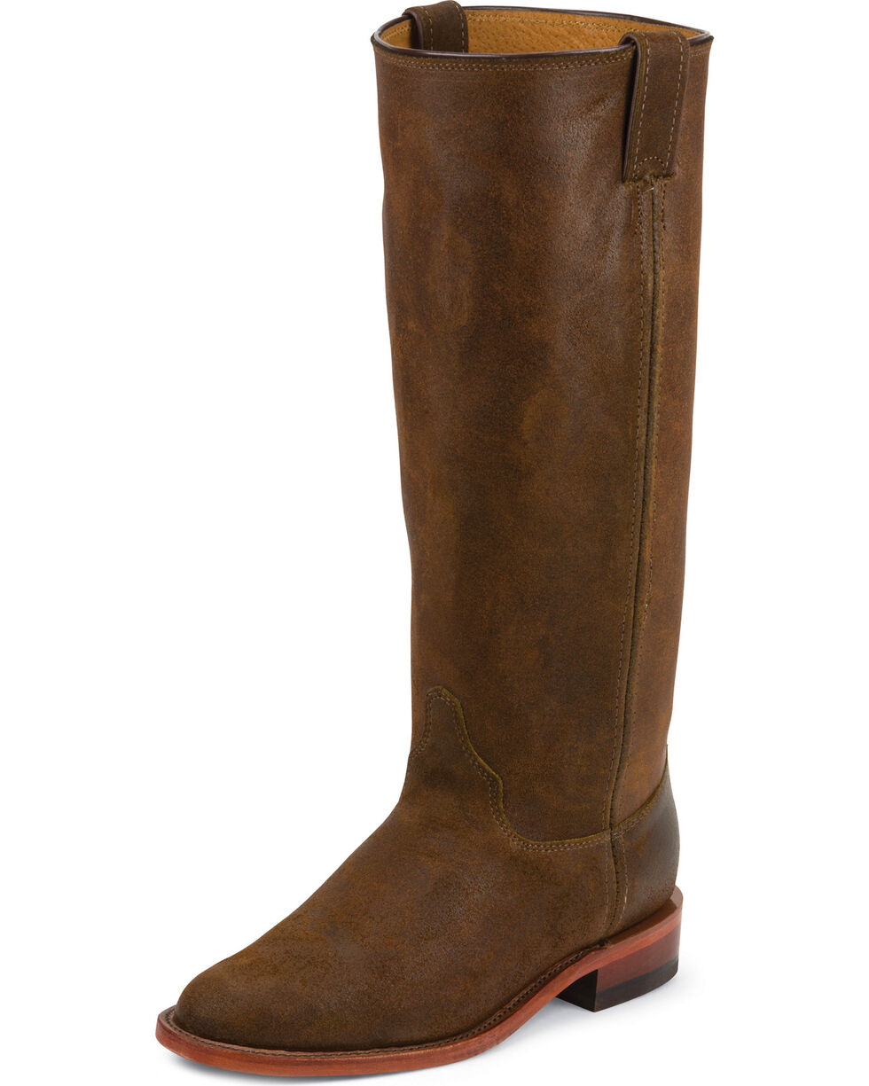 Chippewa Women's Bomber Original Roper Boots - Round Toe, Brown, hi-res