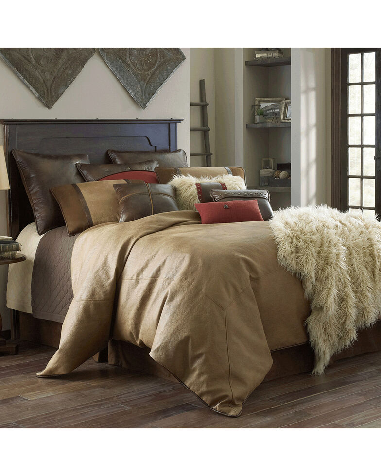 HiEnd Accents Brighton Super King 4-Piece Bedding Set, Tan, hi-res