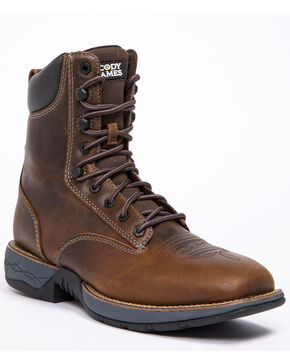 Cody James Men's Xero Gravity Lite Lacer Western Boots - Wide Square Toe, Dark Brown, hi-res