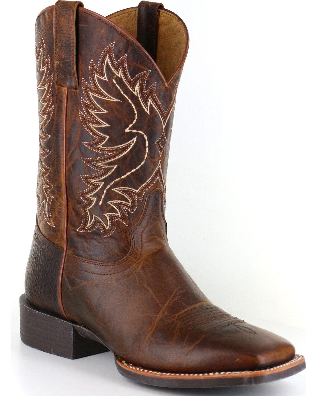 Men's Wide Square Toe Boots - Boot Barn