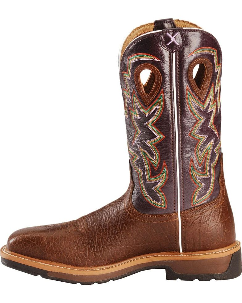 Twisted X Lite Pull-On Work Boots - Composite Toe, Brown, hi-res