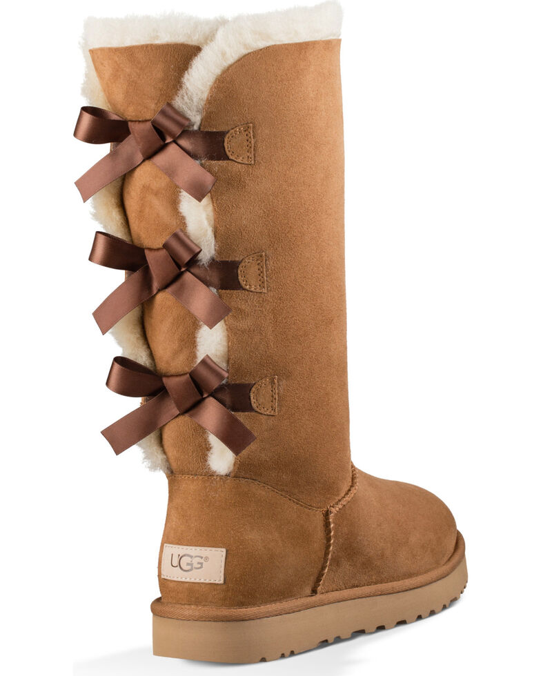 2195dd8cf68 UGG Women's Chestnut Bailey Bow Tall II Boots - Round Toe